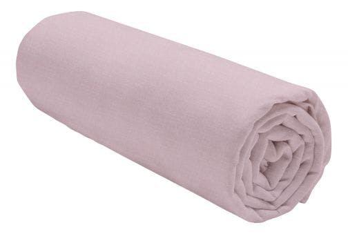 Today hoeslaken uni chiné roze flanel