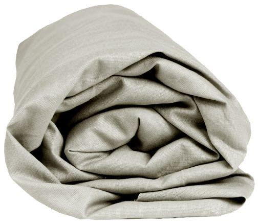 Sleepnight hoeslaken grijs katoenjersey (hoekhoogte 30 cm)