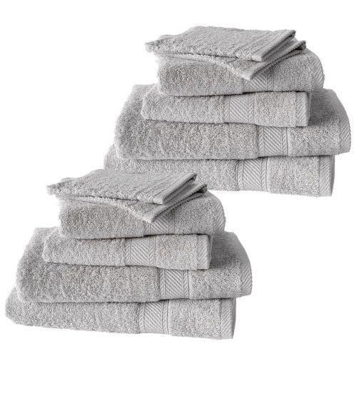 De Witte Lietaer 12-delige handdoekenset Hélène dove