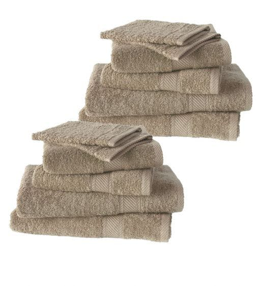 De Witte Lietaer 12-delige handdoekenset Hélène humus