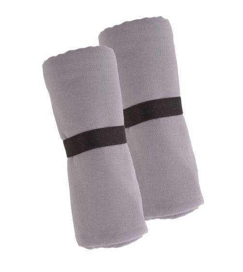 Jules Clarysse 2-delige handdoekenset microfiber grey