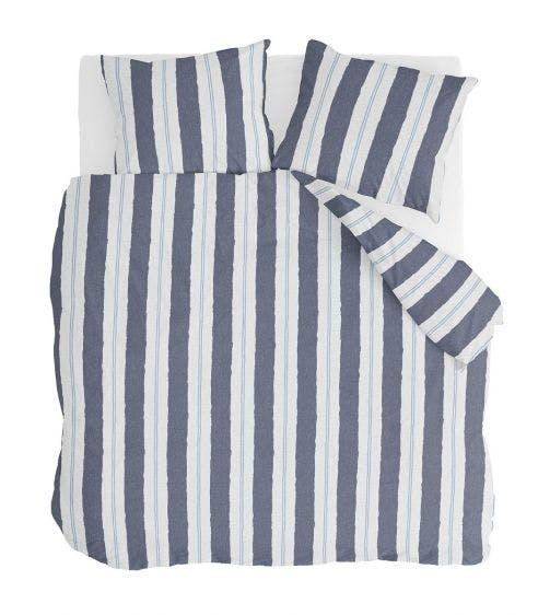 Walra dekbedovertrek Remade Nautic Stripes Donker Blauw Katoen