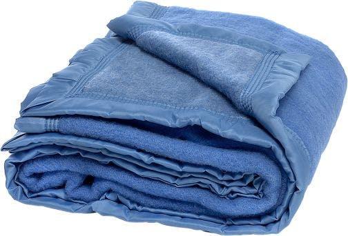 Good Night deken blauw wol
