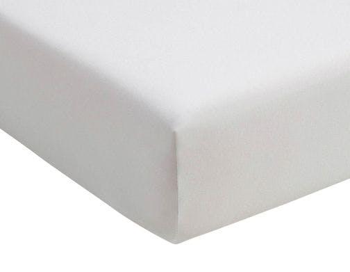 Romanette hoeslaken wit double jersey
