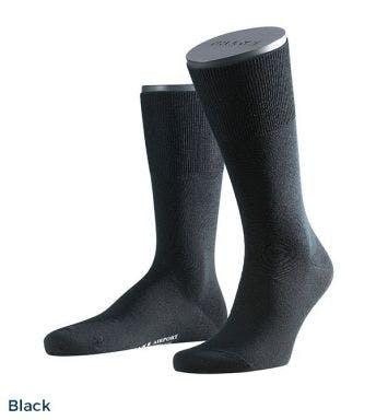 Falke kousen Airport Wool Cotton Blend H Black 14435-Black