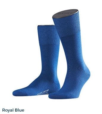 Falke kousen Airport Wool Cotton Blend H Royal Blue 14435-Royal blue