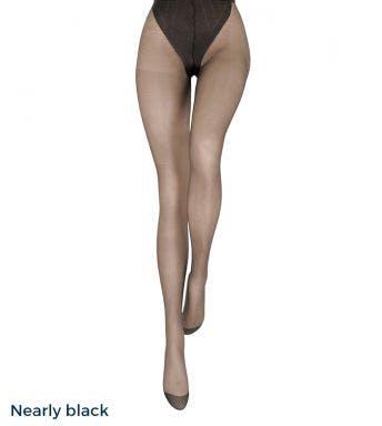 Le bourget panty Voilance Collant Satiné 15D Nearly black
