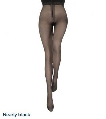 Le bourget panty Couture Collant Résistant 30D Nearly black