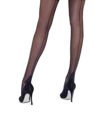 Le bourget panty Couture Collant Rétro 20D