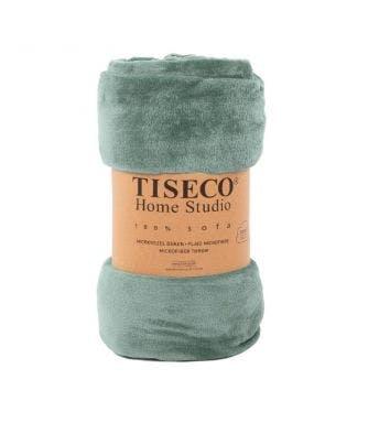 Tiseco Home Studio plaid sage uni green microflanel