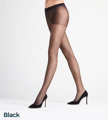 Falke panty Invisible Deluxe 8 Den D Black