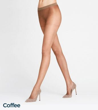 Falke panty Invisible Deluxe 8 Den D Coffee