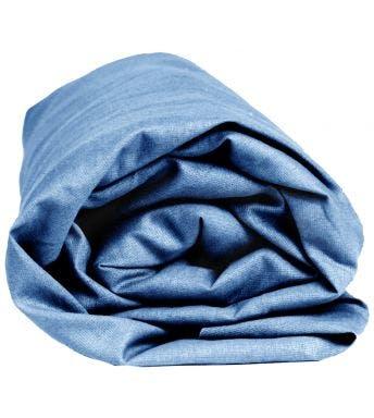 Sleepnight hoeslaken blauw katoen (hoekhoogte 25 cm)
