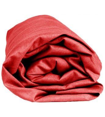 Sleepnight drap-housse hauteur des coins 25 cm rouge flanelle