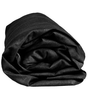 Sleepnight hoeslaken zwart katoenjersey (hoekhoogte 30 cm)
