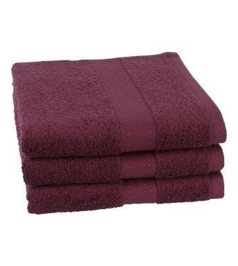Jules Clarysse handdoek Talis burgundy