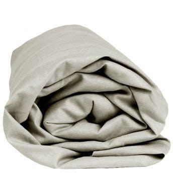 Sleepnight drap-housse pour matelas à eau gris jersey de coton