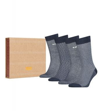Levi's sokken 4 paar Giftbox Reg Cut H