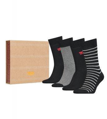 Levi's sokken 4 paar Giftbox Reg Cut Stripe H