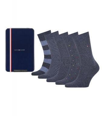 Tommy Hilfiger sokken 5 paar Tin Giftbox Stripe And Dot H
