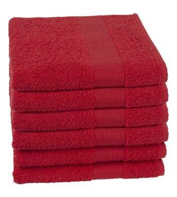 Jules Clarysse handdoek Viva red