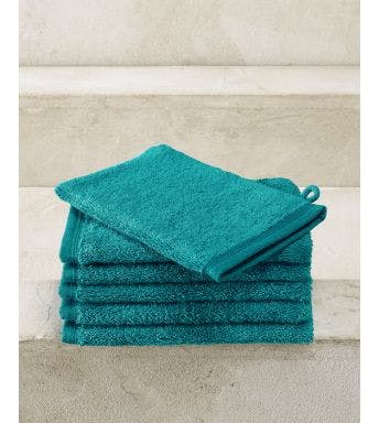 De Witte Lietaer gant de toilette Contessa lake green - 6 pièces