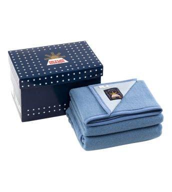 Sole Mio wollen deken blauw/hemelsblauw