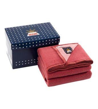 Sole Mio wollen deken roze/aardbei