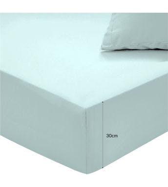 Sleepnight drap-housse hauteur des coins 30 cm Misty Green jersey de coton