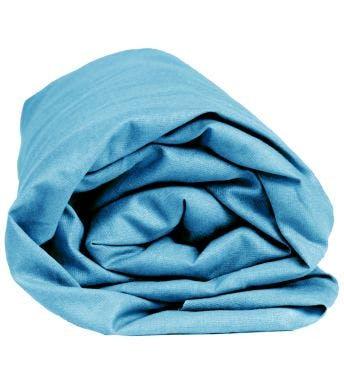Sleepnight drap-housse hauteur des coins 25 cm turquoise coton