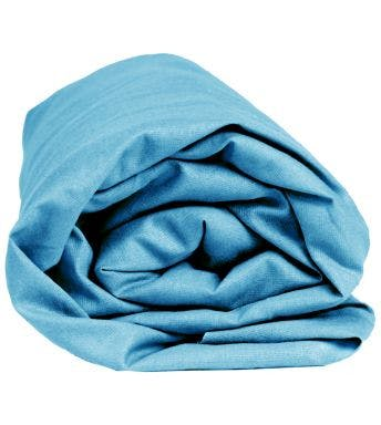 Sleepnight hoeslaken turkoois katoen (hoekhoogte 25 cm)