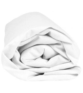 Sleepnight hoeslaken extra hoog wit flanel