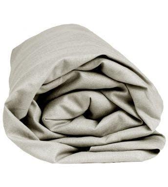 Sleepnight hoeslaken grijs stretch badstof (hoekhoogte 30 cm)