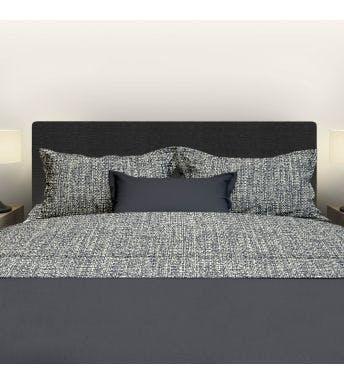 Romanette beddenlaken Tweed antraciet flanel