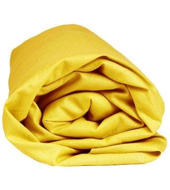 Sleepnight hoeslaken geel katoen (hoekhoogte 25 cm)