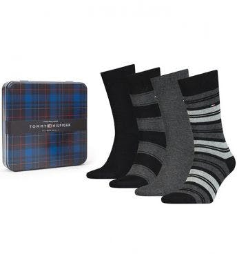 Tommy Hilfiger sokken 4 paar Men Giftbox Stripe H 100000845-003