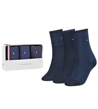 Tommy Hilfiger socks 3 paar Giftbox Women Lurex D 100000865-001