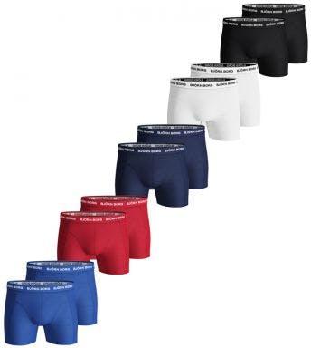 Björn Borg short 10 pack Shorts For Him H 9999-1026-90011 zwart/wit/blauw/dblauw/rood