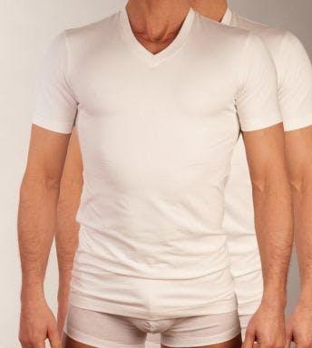 Claesen's T-shirt 2 pack V-Neck H 1223 wit