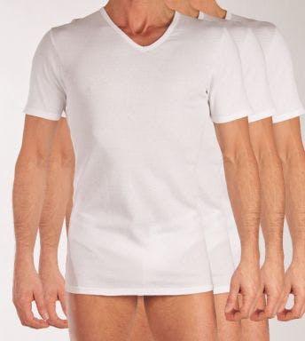 Dim T-shirt V-hals 3 pack Ecodim 2+1 H 00DN-0HY