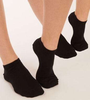 Dim sokken 2 paar Enkelsokken D D06KK zwart