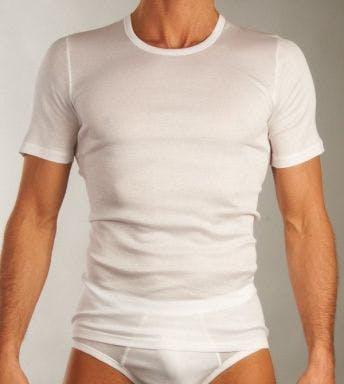 Hanro T-shirt Cotton Pure Short Sleeve Shirt H 073663