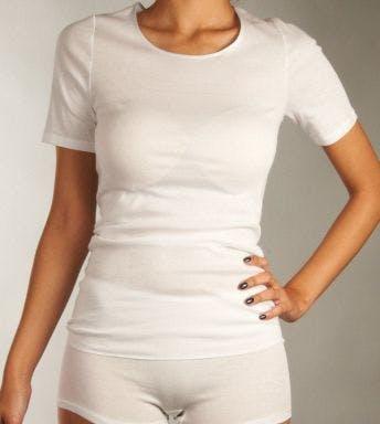 Hanro T-shirt Cotton Seamless Short Sleeve Shirt D 071630