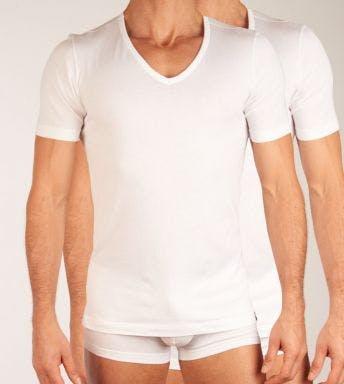 Schiesser T-shirt 2 pack V-hals 95/5 Shirt H 151053-100