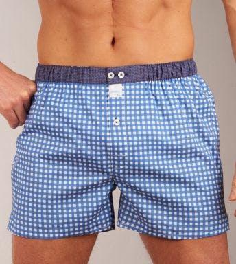 Sixtine's boxershort Mila H blauw/wit