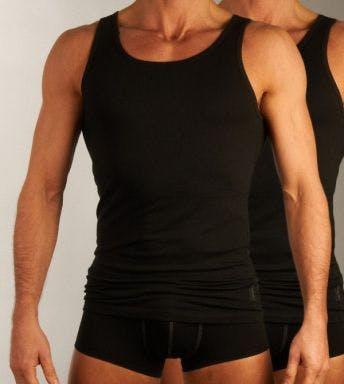Sloggi top 2 pack 24/7 Vest H zwart