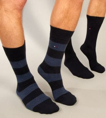 TOMMY HILFIGER UNDERWEAR SOCKS 2 PACK MEN SOCK FUN RUGBY