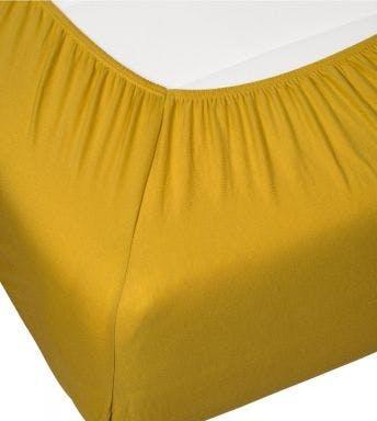 Essenza drap-housse Premium Jersey Fitted sheet Mustard Coton