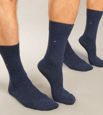 TOMMY HILFIGER UNDERWEAR SOCKS 2 PACK MEN SOCK CHECK