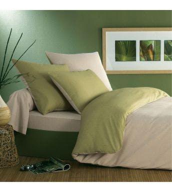 Origin dekbedovertrek Ecorce groen bamboe-katoen